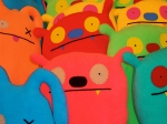 Colorful UGLY DOLLS close-up