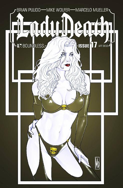 LADY DEATH #17 Art Deco Cover