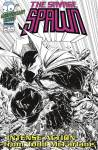 SPAWN #220 Black & White Savage Dragon Homage Cover