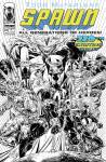 SPAWN #220 Black & White Youngblood Homage Cover