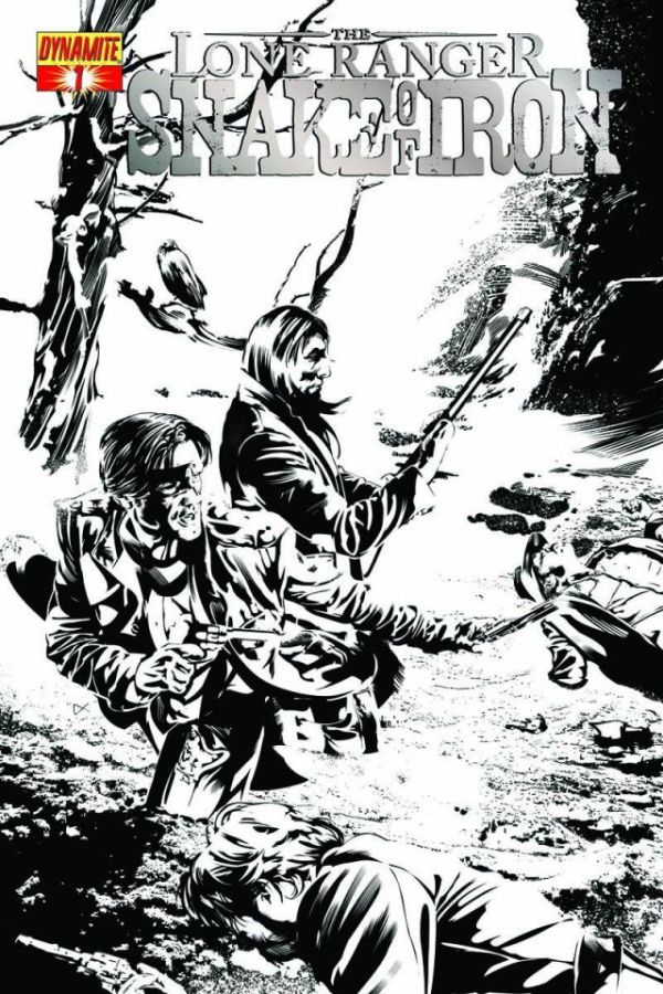 LONE RANGER SNAKE OF IRON #1 Black & White Variant