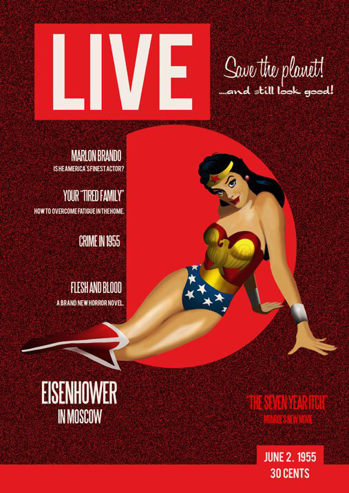 Des Taylor Wonder Woman Live Magazine Cover