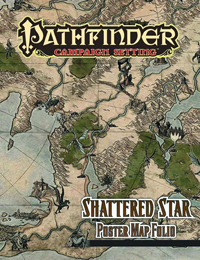 Pathfinder Campaign Setting- Shattered Star Poster map Folio