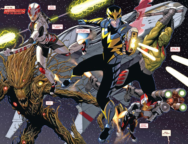 GOTG #1 pages 13-14 This will sell REALLY well