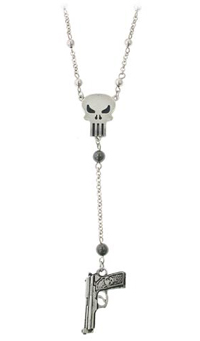 The Punisher Gun Charm Necklace