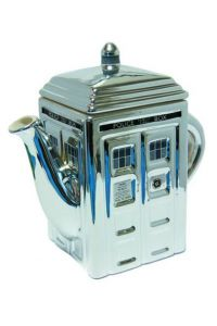 Doctor Who Chrome Tardis Ceramic Teapot