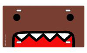 Domo Metal License Plate