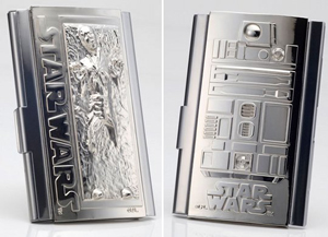 Star Wars Business Card Holders Han Solo in Carbonite & R2D2