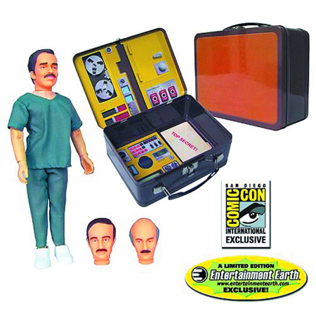 The Six Million Dollar Man Rudy Wells Figure with Tin Tote