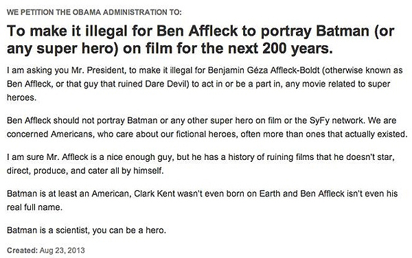 Affleck Petitions