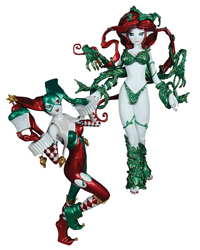 Ame-Comi - Harley Quinn and Poison Ivy Holiday 2-pack PVC figures