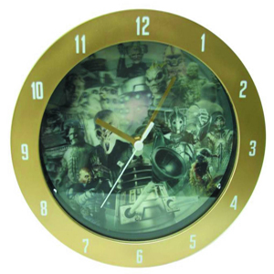 Doctor Who - Monsters 3D Effect Wall Clock