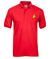 Star Trek - Starfleet Engineering Symbol Red Polo Shirt