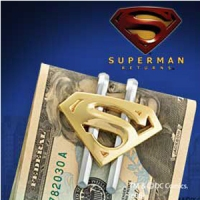 Superman - Shield Gold Plated Money Clip