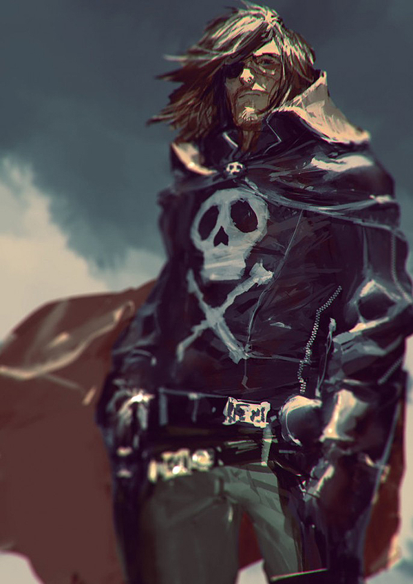 Captain Harlock - Albator by Gerald Parel