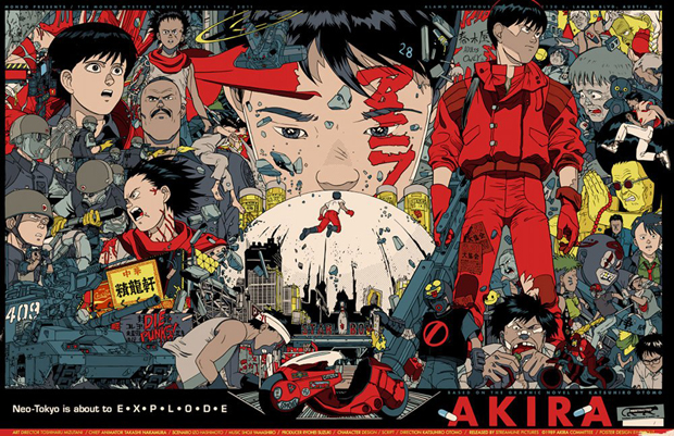 Akira Movie Poster by Tyler Stout