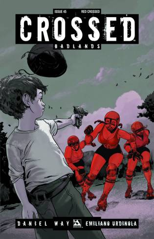 CROSSED BADLANDS #45 RED CROSS COVER