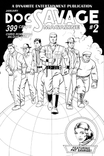 DOC SAVAGE #2 CASSADAY BLACK AND WHITE COVER