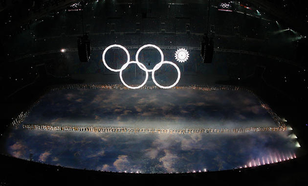 2014 Winter Olympics Sochi Ring Glitch