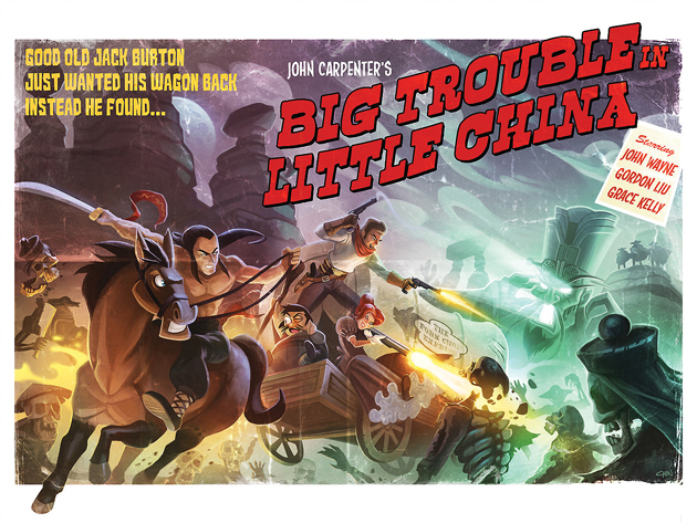 Big Trouble In Litte China Print by Kevin Chin