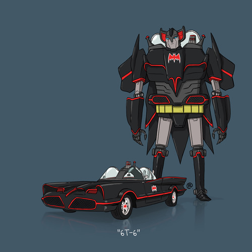 Batmobile Transforms by Darren Rawling