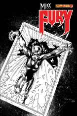 MISS FURY #9 SYAF BLACK AND WHITE COVER