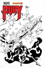 MISS FURY #9 TAN BLACK AND WHITE COVER