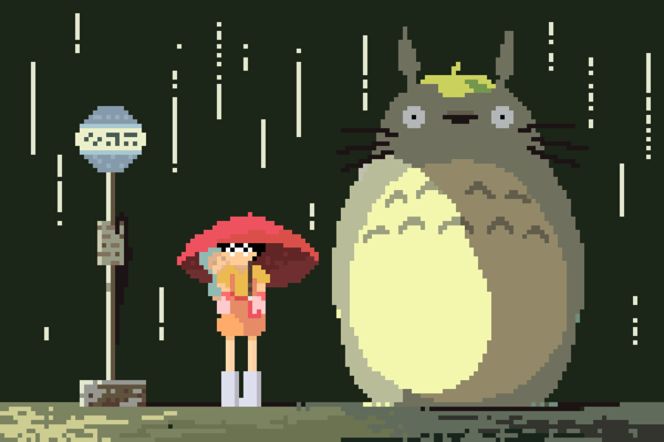 8-bit Totoro by Richard J Evans