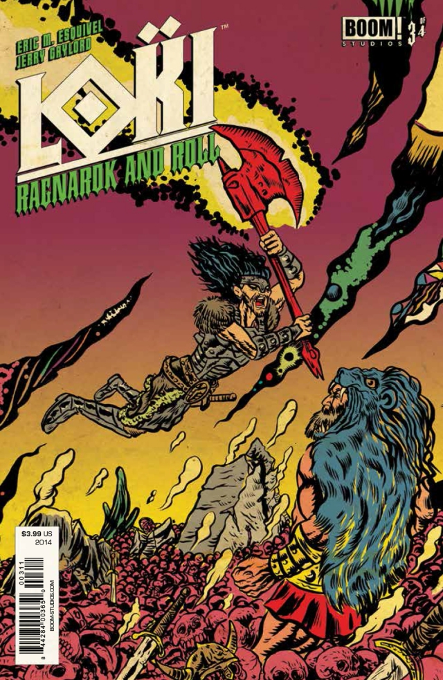 Loki Ragnarok and Roll #3 Cover