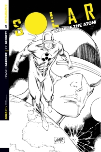 SOLAR MAN OF THE ATOM #1 LIEFELD BLACK AND WHITE COVER