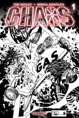 CHAOS #1 ADLARD BLACK AND WHITE COVER