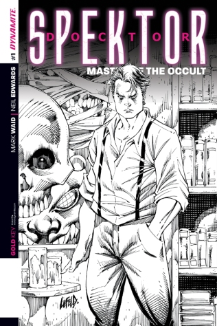 DOCTOR SPEKTOR MASTER OF THE OCCULT #1 LIEFELD BLACK AND WHITE COVER