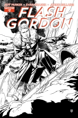 FLASH GORDON #2 LAMING BLACK AND WHITE COVER