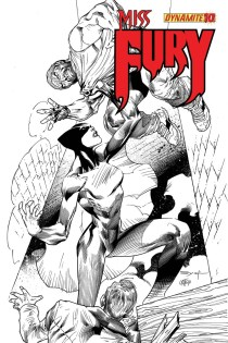 MISS FURY #10 SYAF BLACK AND WHITE COVER