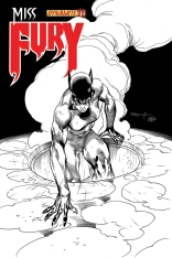 MISS FURY #11 SYAF BLACK AND WHITE COVER