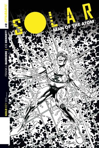SOLAR MAN OF THE ATOM #2 LAYTON BLACK AND WHITE COVER