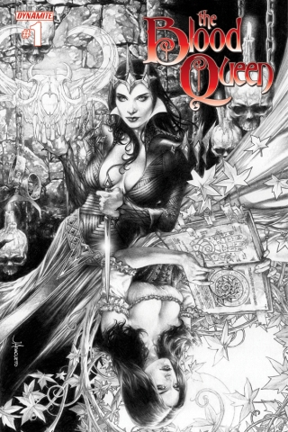 BLOOD QUEEN #1 ANACLETO BLACK AND WHITE COVER