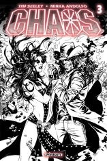 CHAOS #3 LUPACCHINO BLACK AND WHITE COVER