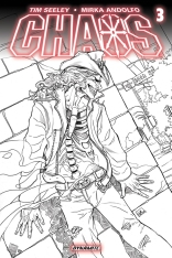 CHAOS #3 RUFFINO BLACK AND WHITE COVER