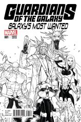 GUARDIANS OF THE GALAXY GALAXY'S MOST WANTED #1 VARIANT