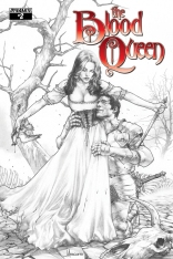 BLOOD QUEEN #2 ANACLETO BLACK AND WHITE COVER