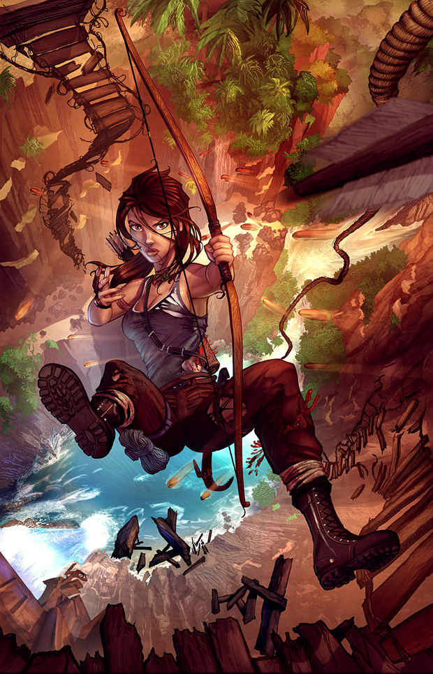 Lara Croft Reborn Line Art by Chris Ehnot Colors by David Delanty