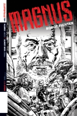MAGNUS ROBOT FIGHTER #5 HARDMAN BLACK AND WHITE COVER