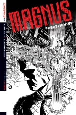 MAGNUS ROBOT FIGHTER #5 SMITH BLACK AND WHITE COVER