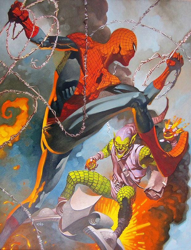 Spider-Man vs Green Goblin by Chris Stevens