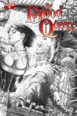 BLOOD QUEEN #4 ANACLETO BLACK AND WHITE COVER