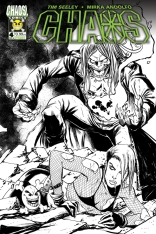 CHAOS #4 SEELEY BLACK AND WHITE COVER