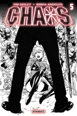 CHAOS #5 LAPACCHINO BLACK AND WHITE COVER