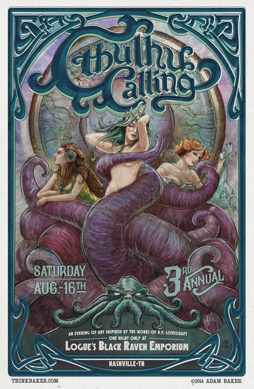 Cthulhu Calling 3 Poster by Adam Baker