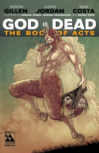 GOD IS DEAD BOOK OF ACTS OMEGA ICONIC COVER